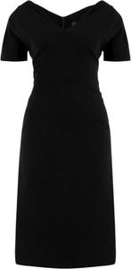Czarna sukienka Persona by Marina Rinaldi z dekoltem w kształcie litery v