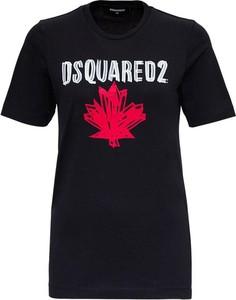 T-shirt Dsquared2 z krótkim rękawem z bawełny z okrągłym dekoltem