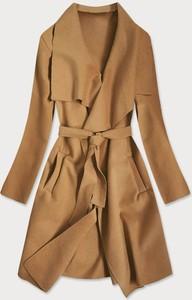 Brązowy płaszcz Goodlookin.pl w stylu casual