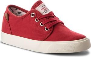 Czerwone trampki dziecięce pepe jeans