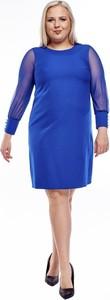 Sukienka Fokus z tkaniny mini ołówkowa
