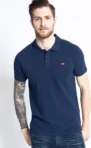 Granatowa koszulka polo Levis z bawełny