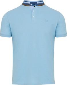 Niebieski t-shirt Lavard z krótkim rękawem