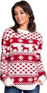 Sweter Be Knit w bożonarodzeniowy wzór