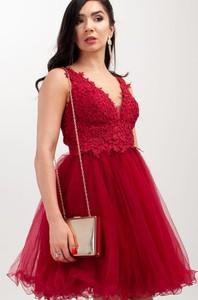 Sukienka Butik Ecru rozkloszowana bez rękawów mini