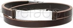 Silverado Gruba bransoleta męska z naturalnej skóry - 77-BA591A