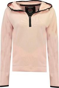 Różowa bluza Geographical Norway krótka w sportowym stylu