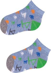 Niebieskie skarpetki YoClub z bawełny