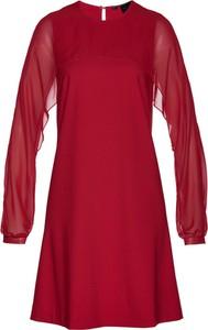 Sukienka bonprix bpc selection z szyfonu z okrągłym dekoltem