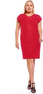 Czerwona sukienka Fokus oversize