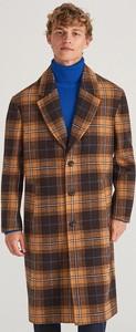 Brązowy płaszcz męski Reserved w stylu casual