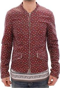 Czerwony płaszcz męski Dolce & Gabbana z tkaniny