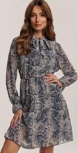 Granatowa sukienka Renee z długim rękawem mini