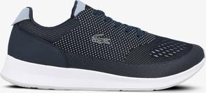 Buty sportowe Lacoste sznurowane z płaską podeszwą w sportowym stylu