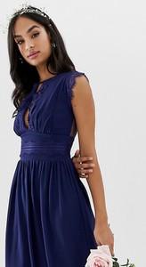 Granatowa sukienka Tfnc bez rękawów