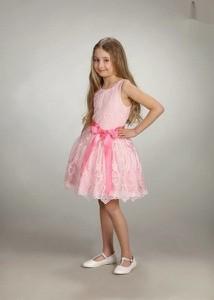 Różowa sukienka dziewczęca Małami