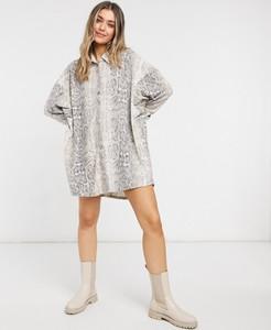 Sukienka Asos z tkaniny z długim rękawem w stylu casual