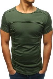 T-shirt Dstreet z tkaniny w stylu casual z krótkim rękawem