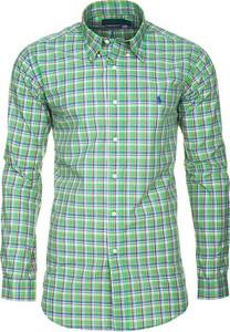 Zielona koszula Ralph Lauren z bawełny