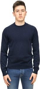 Niebieski sweter Hugo Boss z bawełny