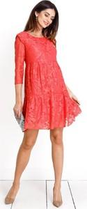 Wieczorowa sukienka ciążowa Natalie koral Happymum