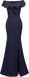Niebieska sukienka Elegrina