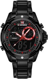 ZEGAREK MĘSKI NAVIFORCE - NF9120 (zn062c) - black/red - Czarny