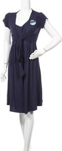 Niebieska sukienka JoJo Maman Bébé z krótkim rękawem