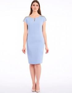 Sukienka POTIS & VERSO prosta z okrągłym dekoltem