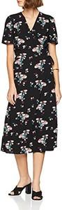 Sukienka amazon.de z dekoltem w kształcie litery v midi z krótkim rękawem