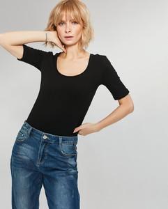 Bluzka FEMESTAGE Eva Minge z bawełny w stylu casual z krótkim rękawem