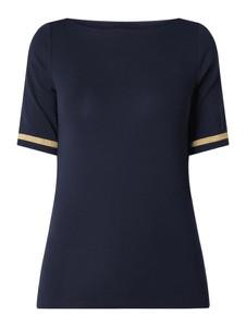 Granatowa bluzka Ralph Lauren z krótkim rękawem