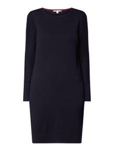 Granatowa sukienka Esprit w stylu casual mini z okrągłym dekoltem