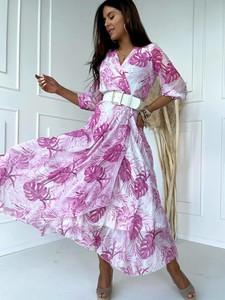 Sukienka Versada kopertowa z krótkim rękawem maxi