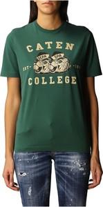 Zielony t-shirt Dsquared2 z krótkim rękawem