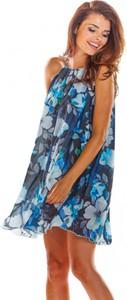 Sukienka Awama bez rękawów z szyfonu