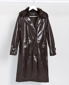 Brązowy płaszcz Missguided
