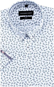 Koszula Giacomo Conti z kołnierzykiem button down z krótkim rękawem