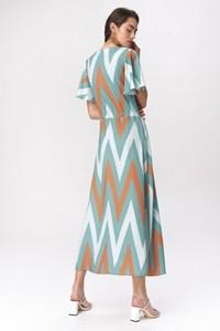 Sukienka Nife maxi z krótkim rękawem