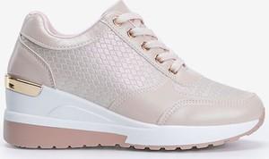 Różowe buty sportowe Gemre.com.pl sznurowane