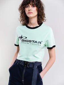 Zielona bluzka Big Star z okrągłym dekoltem