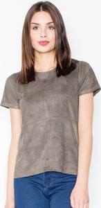 T-shirt Figl w stylu casual z okrągłym dekoltem