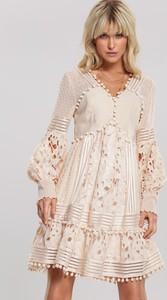 Sukienka Renee z dekoltem w kształcie litery v mini rozkloszowana