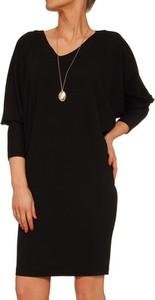 Czarna sukienka Yuliya Babich prosta z długim rękawem w stylu casual