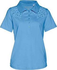 Niebieski t-shirt bonprix bpc selection z krótkim rękawem