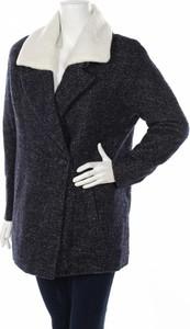 Granatowy płaszcz Camaieu w stylu casual