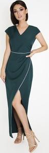 Zielona sukienka Marcelini asymetryczna