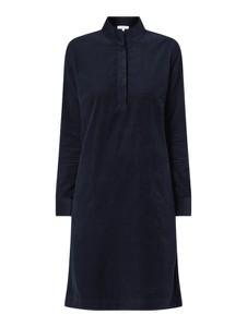 Granatowa sukienka Christian Berg Women z długim rękawem koszulowa mini