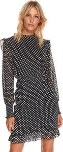 Czarna sukienka Top Secret mini koszulowa