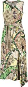 Sukienka Gerry Weber asymetryczna z dekoltem w kształcie litery v bez rękawów